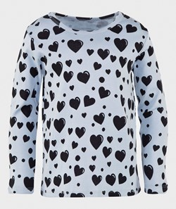 Mini Rodini Hearts T-Shirt in Blue