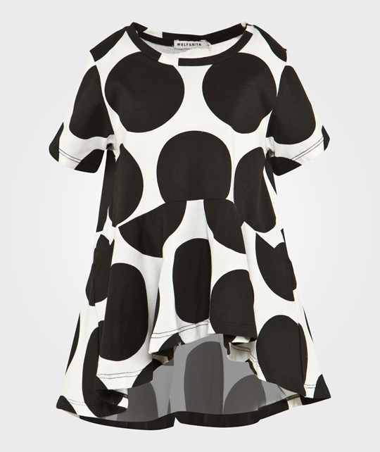 Wolf & Rita Luana Top White With Black Dots White with black dots