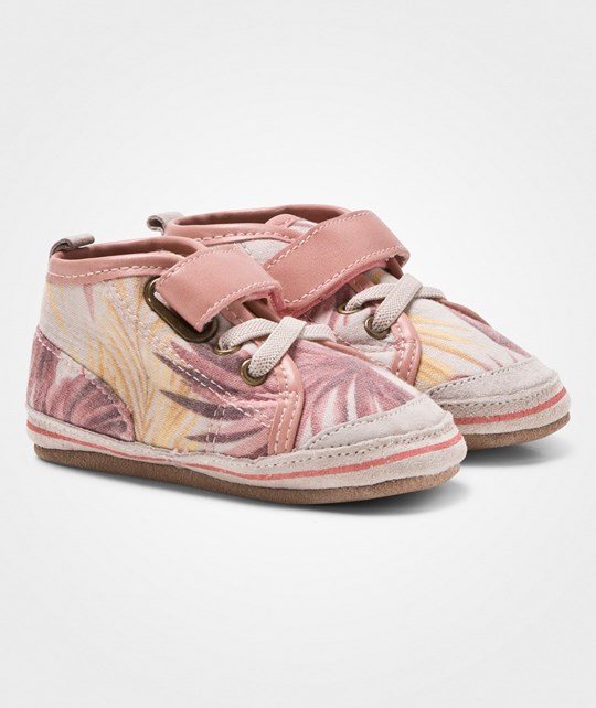 Melton Leather/Textile Moccasins Hightop Palms Wild Rose WILD ROSE