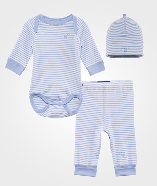 Gant Raidallinen New Born Setti Vaaleansininen Sea Blue