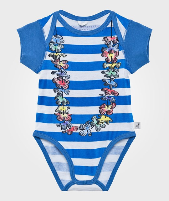 Stella McCartney Kids Cassidy Body Striped  Blue & White Str
