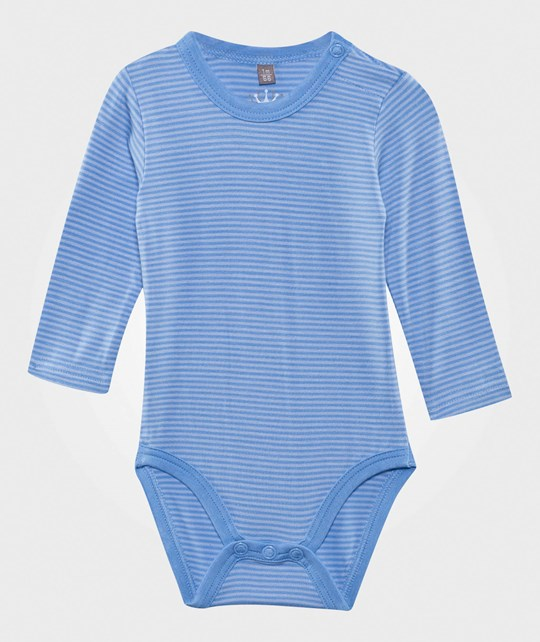 Hust&Claire Striped Bamboo Baby Body Blue Mist Blue Mist