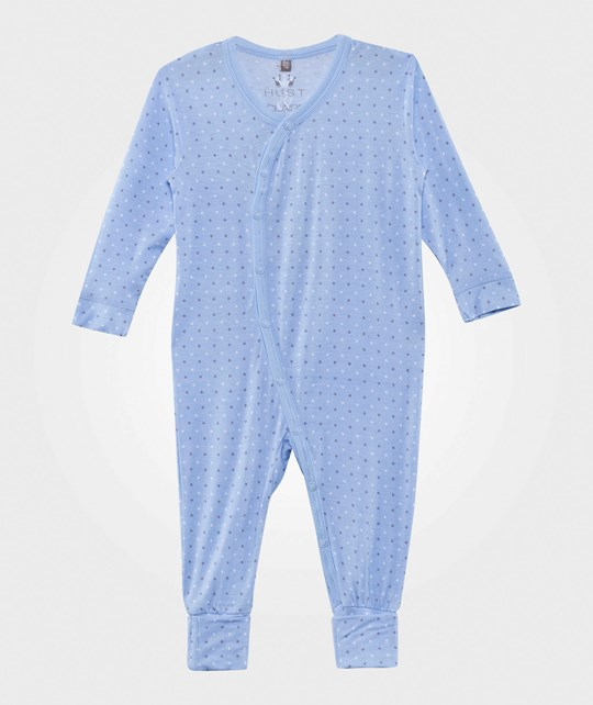 Hust&Claire Dots Bamboo Baby One-Piece Light Blue Light Blue