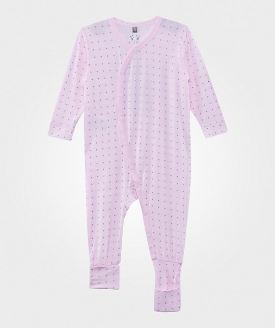 Hust&Claire Dots Bamboo Baby One-Piece Soft Rose Soft Rose
