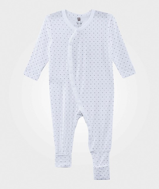 Hust&Claire Dots Bamboo Baby One-Piece White White