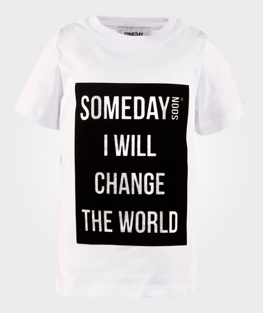 Someday Soon Someday T-Shirt White White