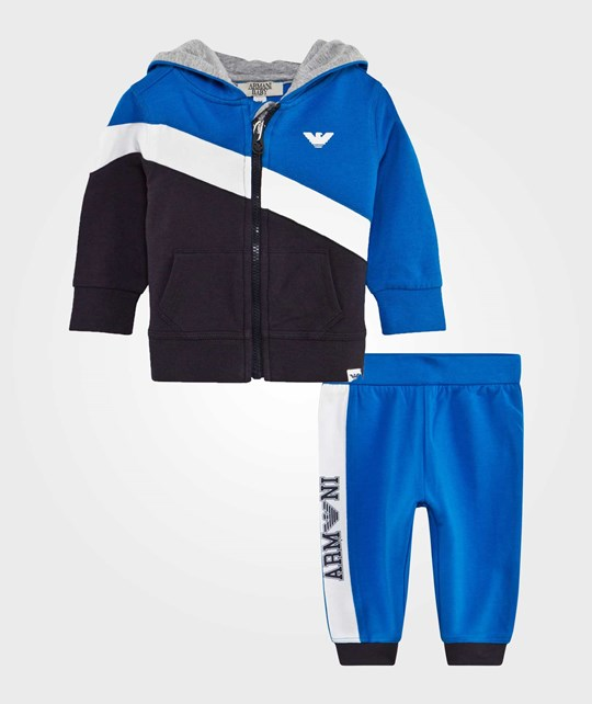 Emporio Armani Tracksuit Set Blue Multicolor