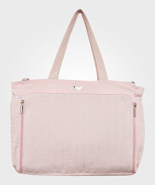Emporio Armani Pink Stripe Changing Bag Two Tone