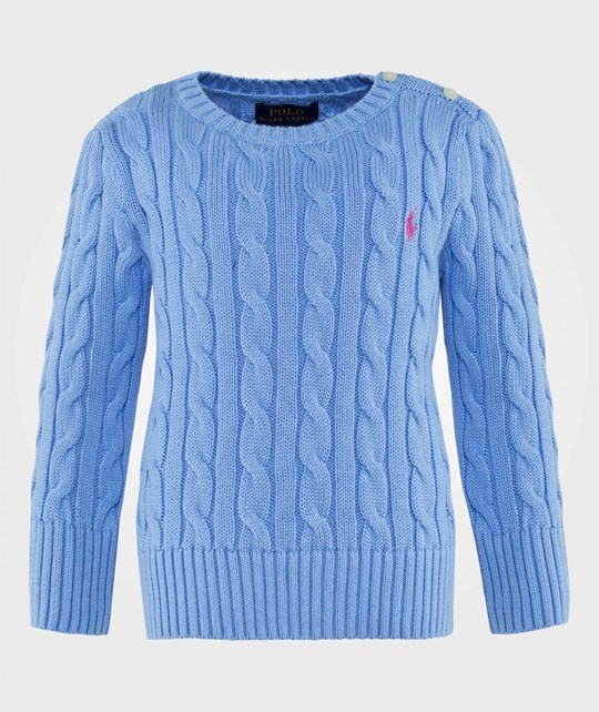 Ralph Lauren Cable Knit Cotton Sweater Sutton Blue SUTTON BLUE