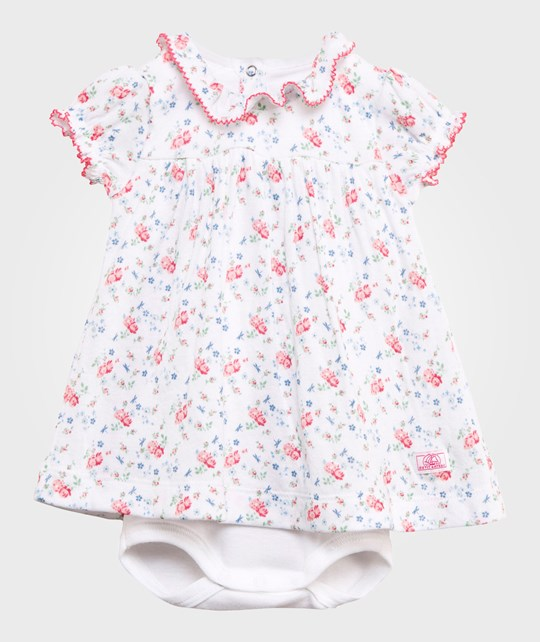 Petit Bateau Floral Baby Body Dress Multi