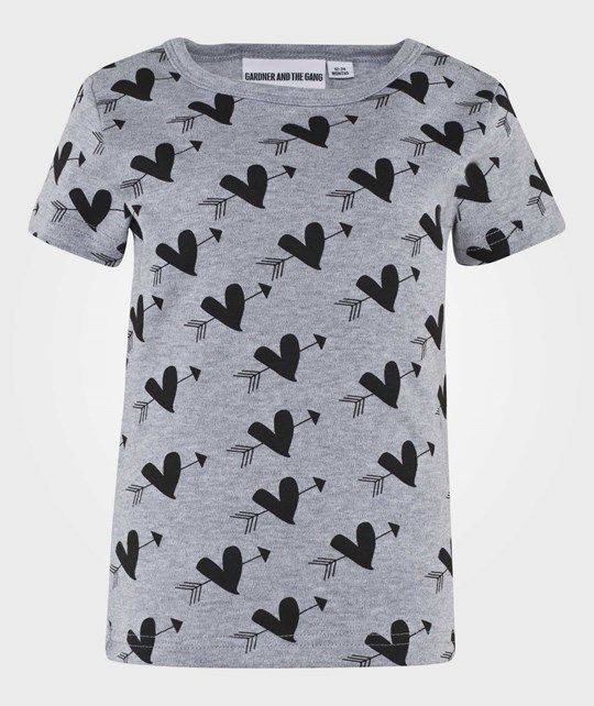 Gardner and the gang The Cool Tee Cupid Heart Grey