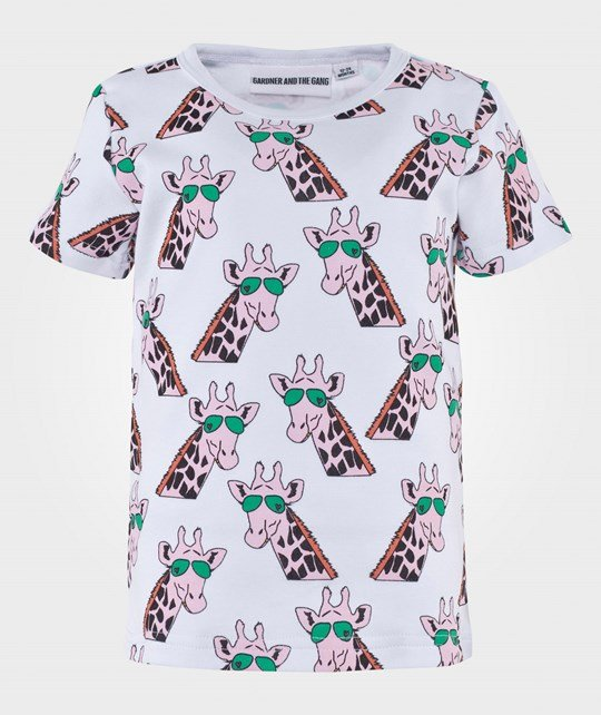 Gardner and the gang The Cool Tee Gertrude the Giraffe White