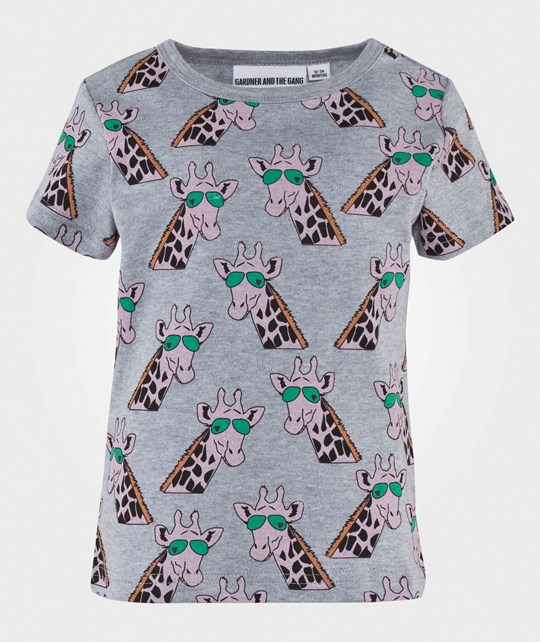 Gardner and the gang The Cool Tee Gertrude the Giraffe Black