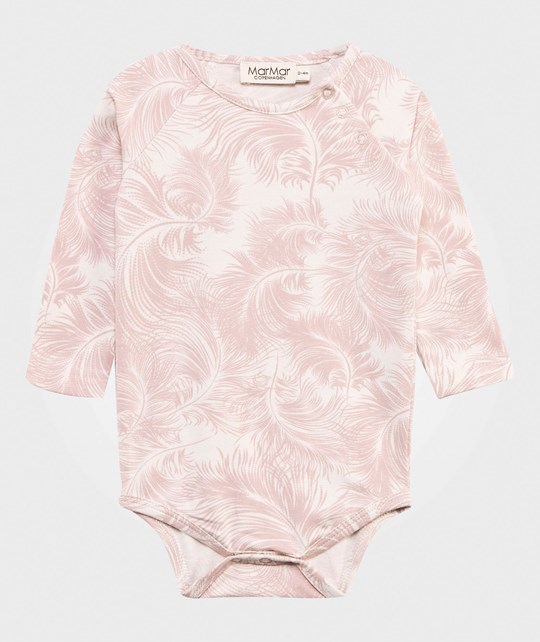 MarMar Copenhagen Bo Feather Print Baby Body Cameo Rose Cameo Rose