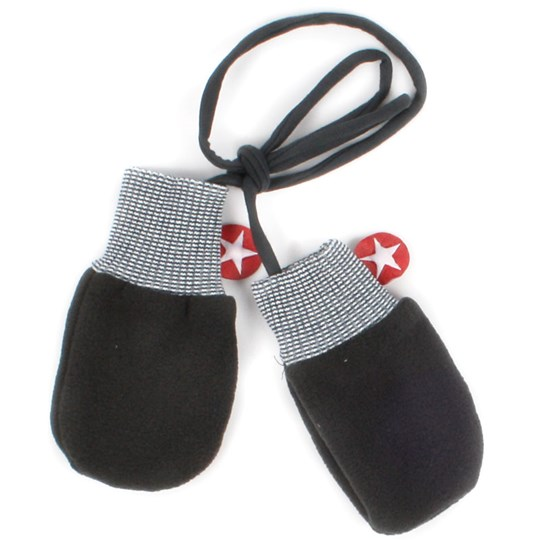 Kik Kid Mittens Fleece Grey Black