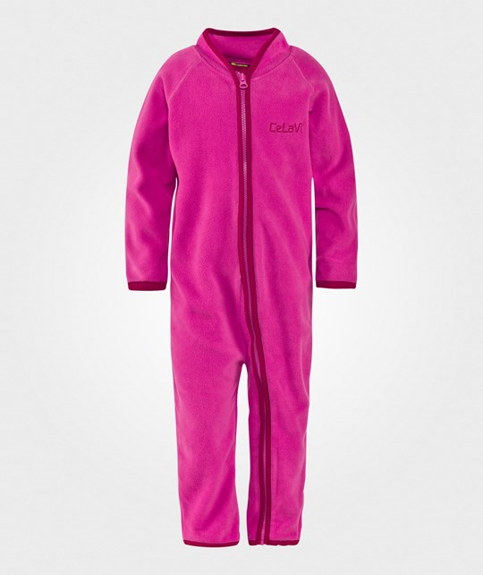 Celavi Fleece Suit Real Pink  Real pink
