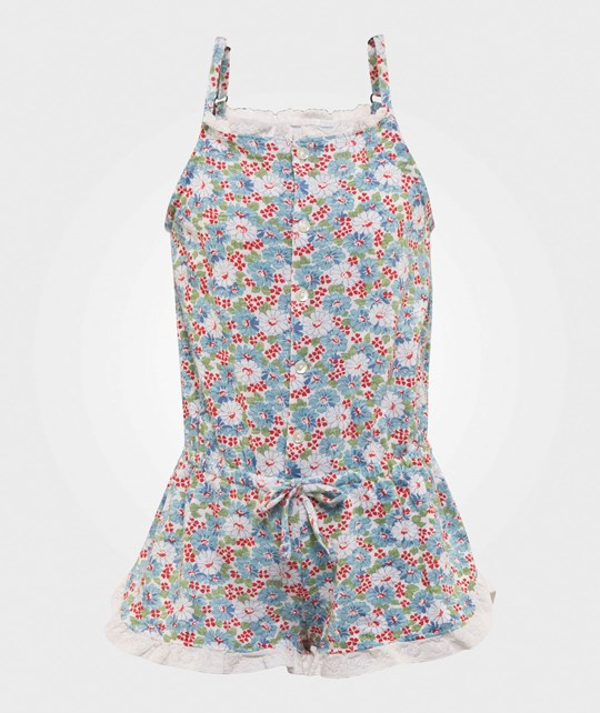 Ralph Lauren Floral Rompr Cream/Blue Multi CREAM/BLUE MULTI
