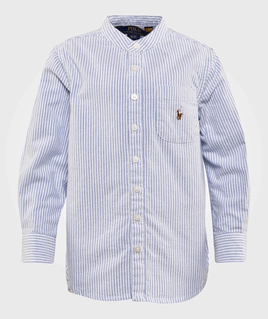 Ralph Lauren Striped Cotton Oxford Shirt Blue/White Blue/White