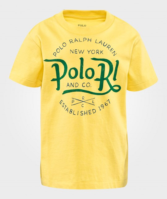 Ralph Lauren Cotton Jersey Graphic Tee in Hamton Yellow HAMPTON YELLOW