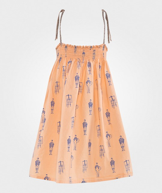 Bobo Choses Straps dress Painters Apricot wash Apricot wash