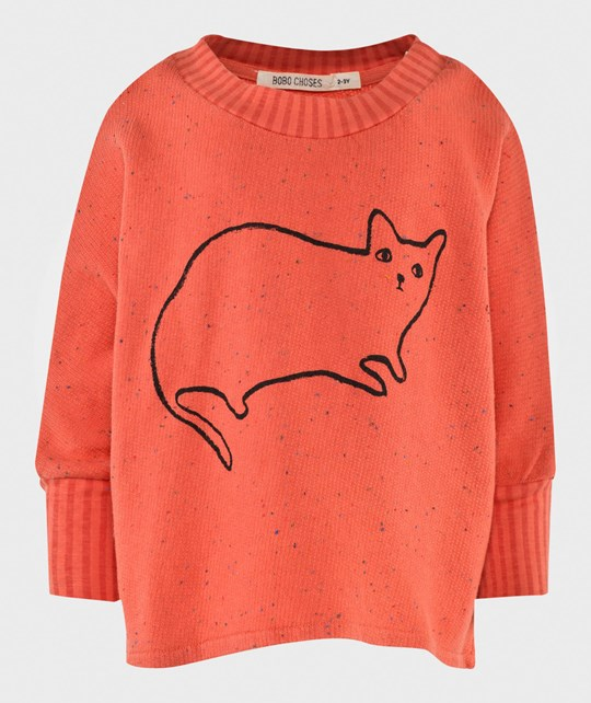 Bobo Choses Loose sweatshirt  Le Chat Apricot wash Apricot wash