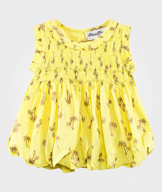 How To Kiss A Frog Liz Dress Palm Yellow Yellow
