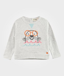 The Bonnie Mob Salty The Seal Terry Sweatshirt Grey/Pink