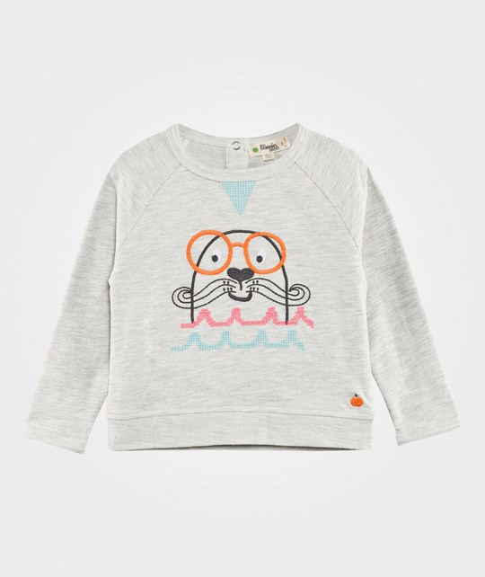 The Bonnie Mob Salty The Seal Terry Sweatshirt Grey/Pink Grey/pink