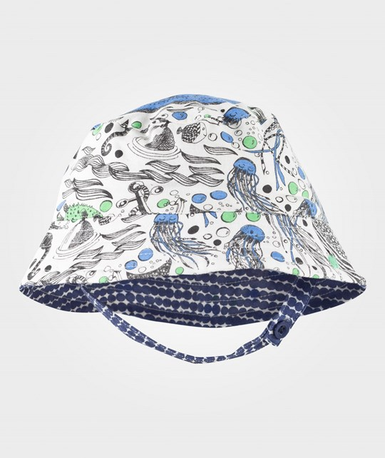 The Bonnie Mob Sun Hat Underwater Print/Bubbles Underwater Print