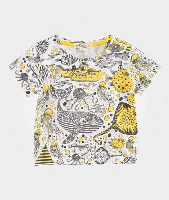 The Bonnie Mob Футболка Underwater Print T-Shirt Yellow Underwater Print Yellow