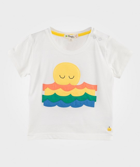 The Bonnie Mob Sunset and Waves T-Shirt Cream/Rainbow Cream/Rainbow