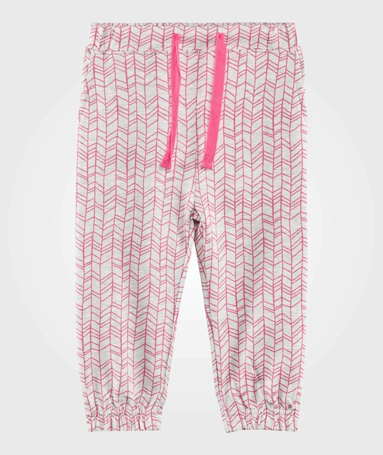 The Bonnie Mob Брюки Lightweight Terry Slouchy Trouser Pink Doodle Pink Aop Doodle Knit Stitch