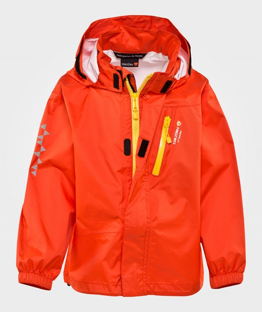 Isbjörn Of Sweden Light Weight Rain Jacket Sun Poppy Sun Poppy
