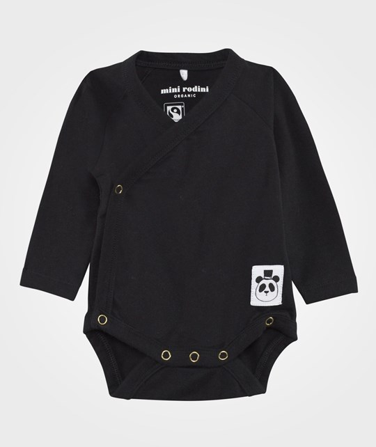 Mini Rodini Basic Baby Wrap Body Black Black