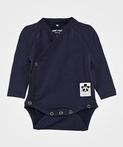 Mini Rodini Basic Baby Wrap Body Dark Blue