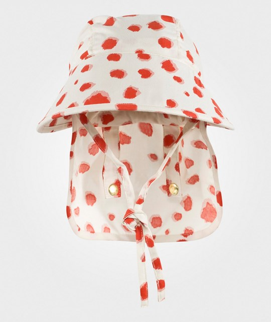 Mini Rodini Taches Sun Cap Red Red