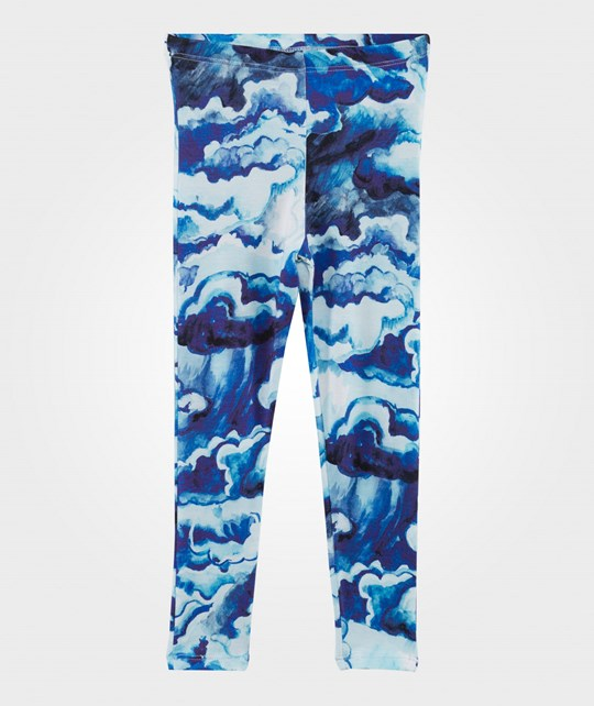 Mini Rodini Clouds Print Leggings Dark Blue Dk Blue