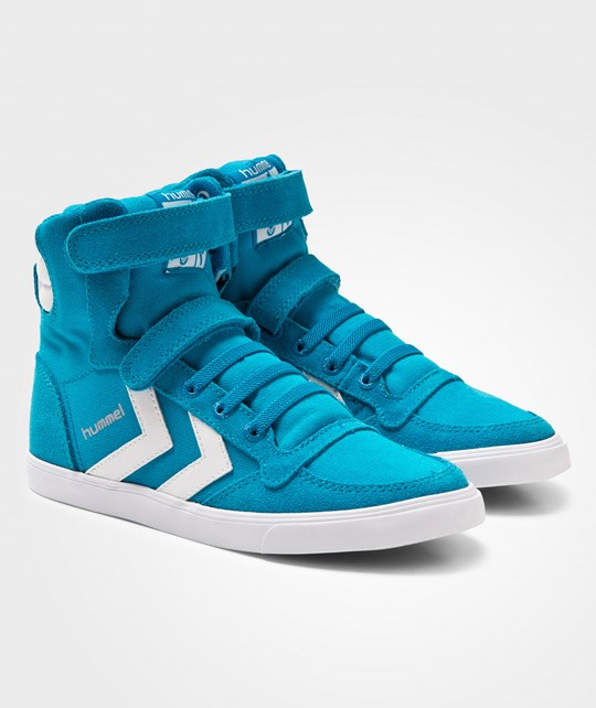 Hummel Slimmer Stadil Canvas Jr Hi Sneakers Methyl Blue Methyl Blue