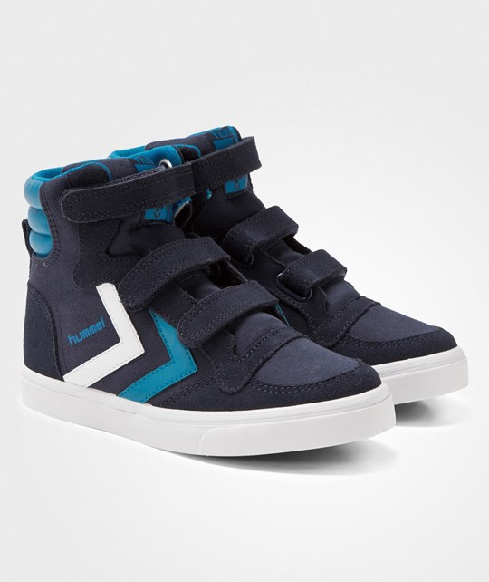 Hummel Stadil Canvas Jr Hi Sneakers Dress Blue Dress Blue