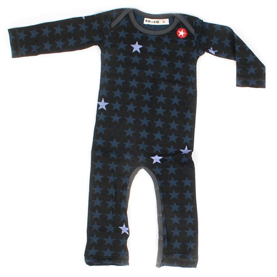 Kik Kid Romper Jersey Grey/Darkblu/Blu Black