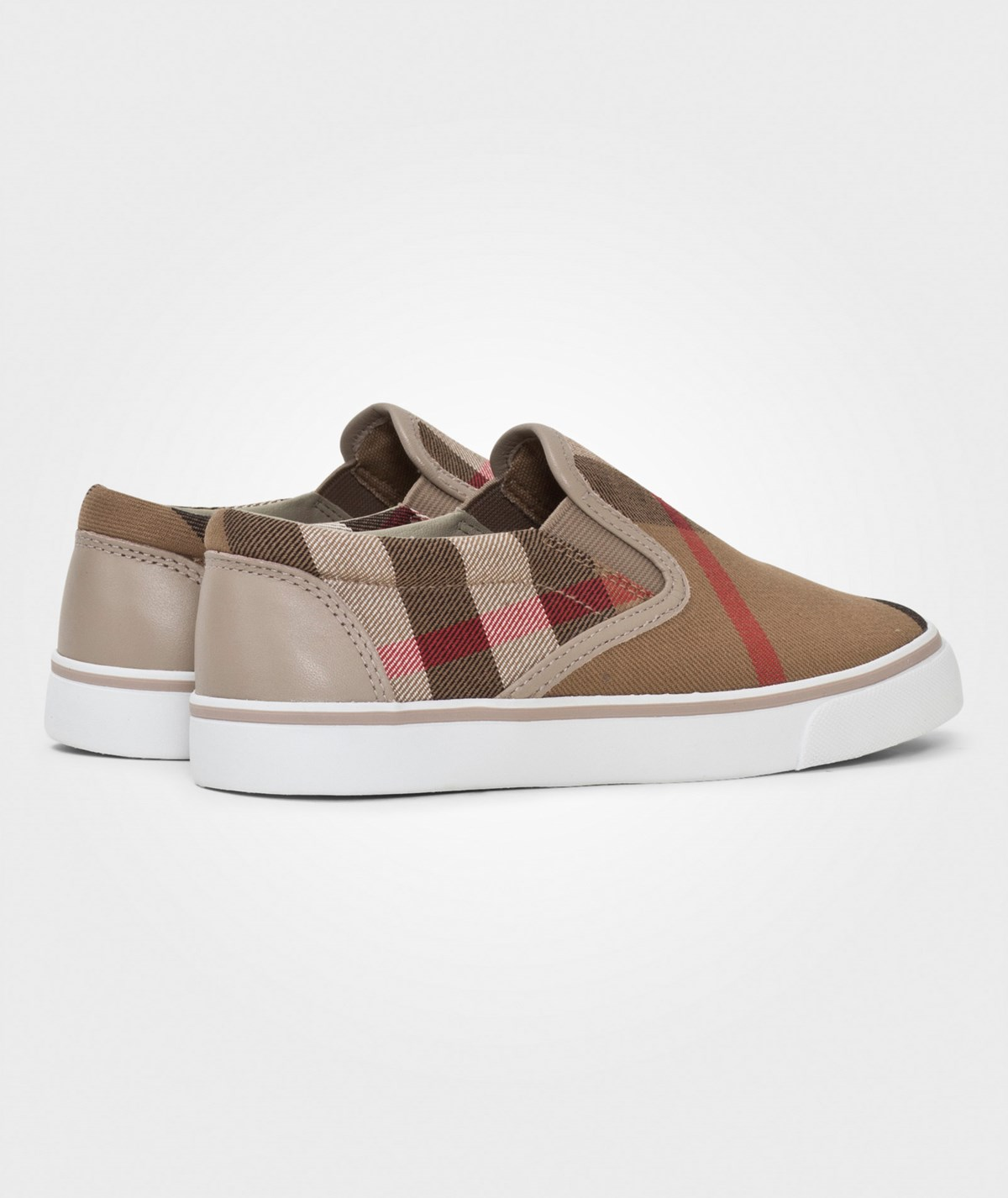 Burberry - House Check Cotton Slip-On Trainers Light Honey ...