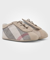 Burberry Bosco New Born Check Shoes Stone Stone