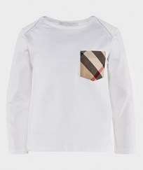 Burberry Футболка Check Pocket Long Sleeve T-Shirt  White