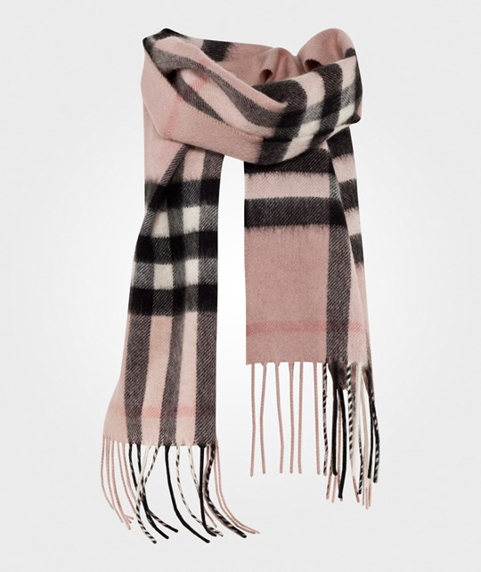 Burberry Cashmere Exploded Check Scarf Ash Rose Ash Rose