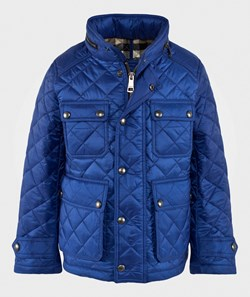 Burberry Diamond Quilted Field Jacket Marine Blue
