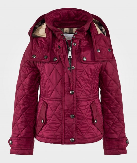 Burberry Foxmoore Quilted Jacket with Hood Fritillary Pink Fritillary Pink
