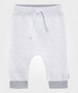 Hust&Claire Pointelle Knit Pants White