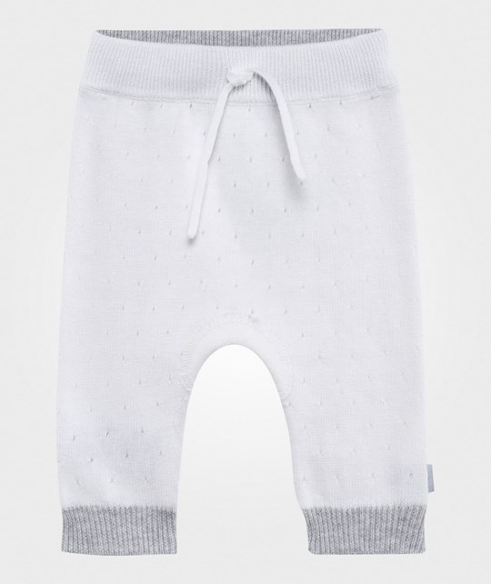 Hust&Claire Pointelle Knit Pants White White