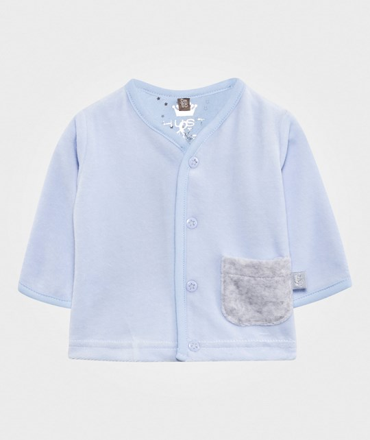 Hust&Claire Velour Cardigan Light Blue Light Blue