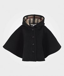 Burberry Пальто  Шерстяное Check Lined Wool Cape Black Black